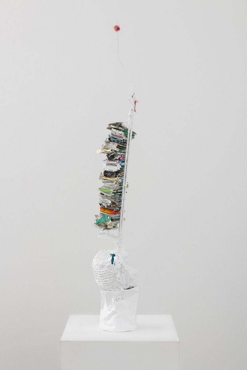 Paul Pascal Thériault, Tall Stack / Rave, with Fuzz Ball, 2018