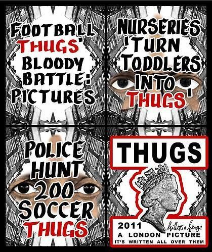 GILBERT & GEORGE, Thugs, 2011