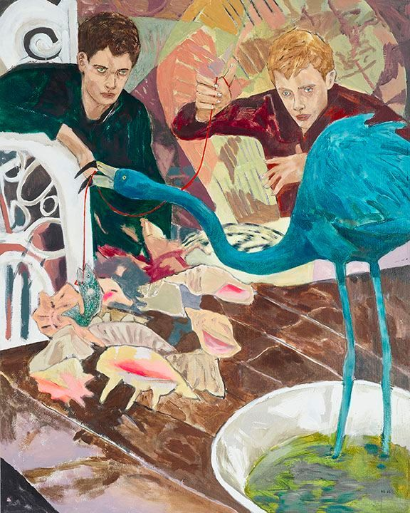 HERNAN BAS House Training (South American Blue Flamingo), 2016