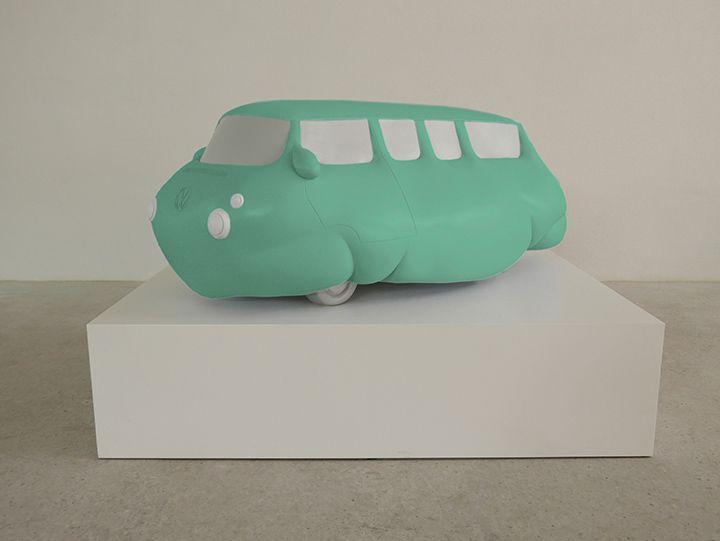 ERWIN WURM Fat Bus (green), 2016