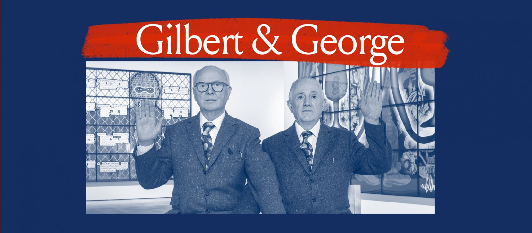 Gilbert & George Portrait Banner