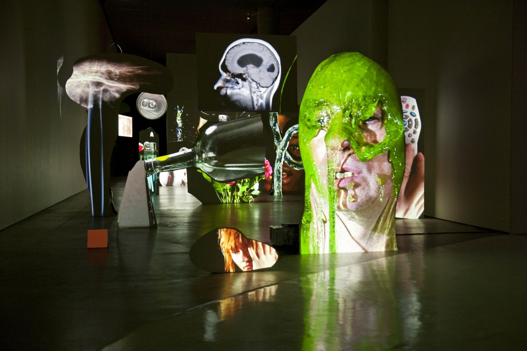 Tony Oursler: Face to Face, Installation view, ARoS Aarhus Kunstmuseum, Denmark, 2012