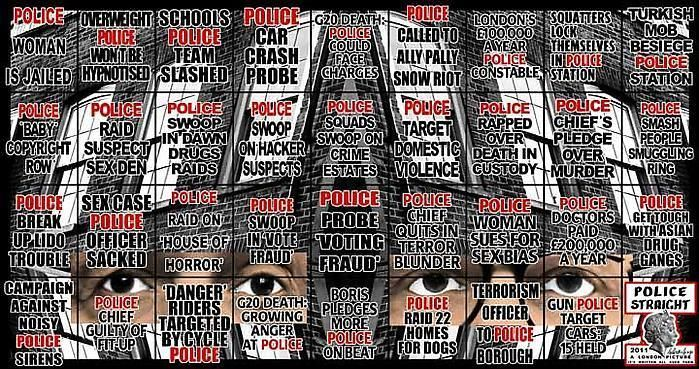 GILBERT & GEORGE, Police Straight, 2011