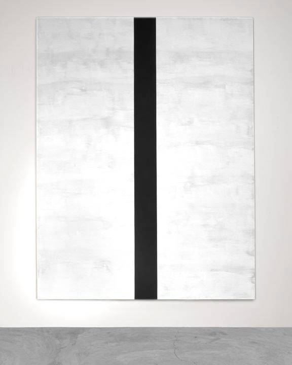 MARY CORSE Untitled (White/Black Beveled), 2015