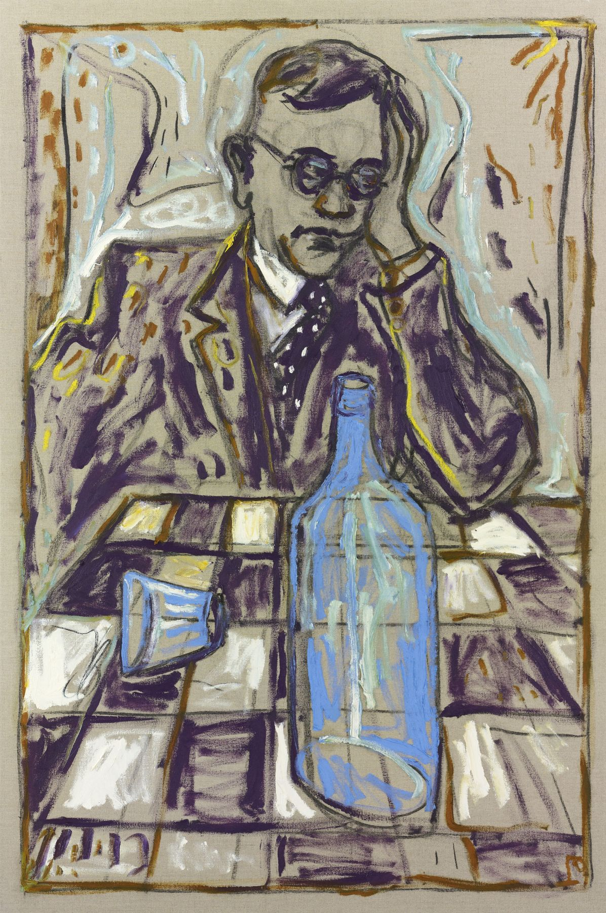 BILLY CHILDISH (Fallada) Man with Blue Bottle, 2010