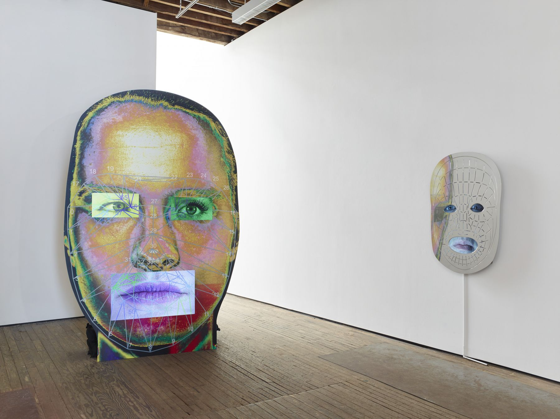 Tony Oursler Installation view