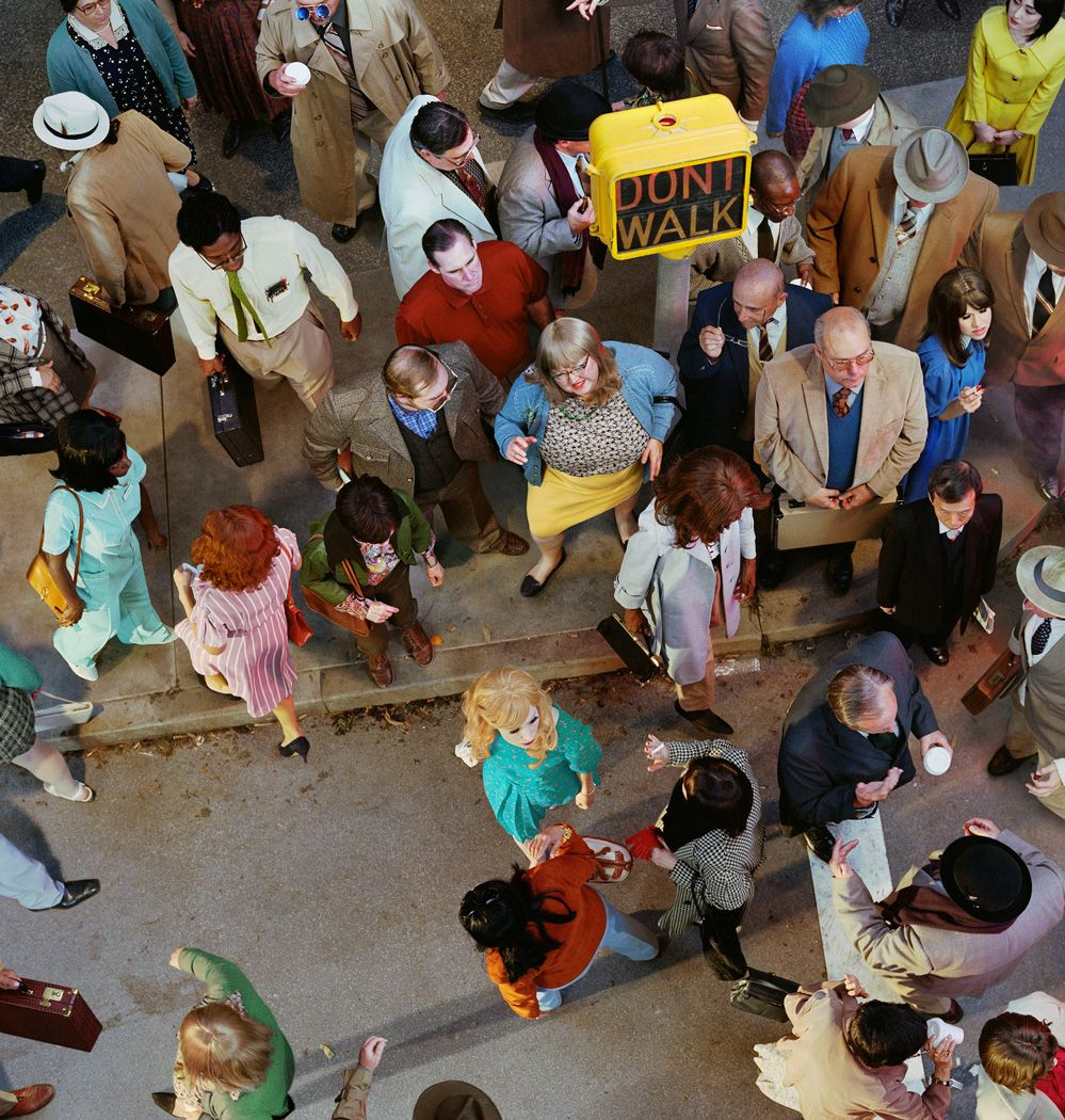 ALEX PRAGER, Crowd #11 (Cedar and Broad Street), 2013