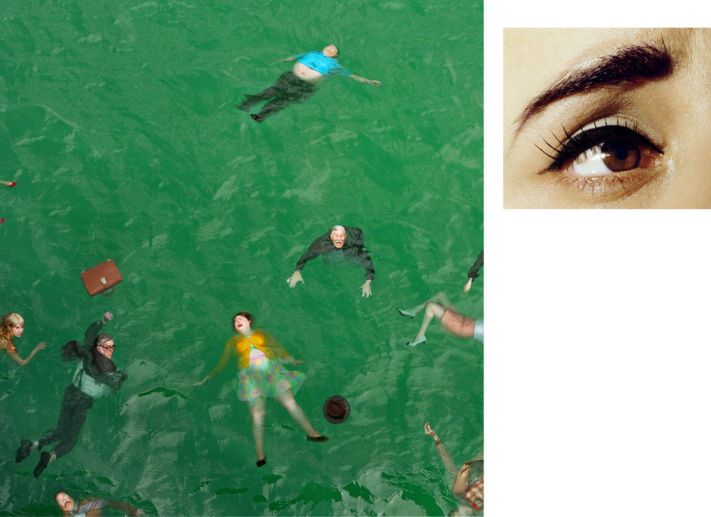 ALEX PRAGER 3:14 pm, Pacific Ocean and Eye #9 (Passenger Casualties), 2012