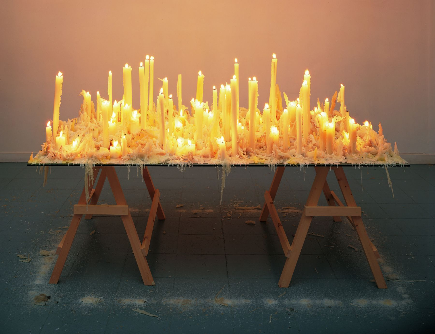 No Place Better Than This, 1996, Glass, wood and candles