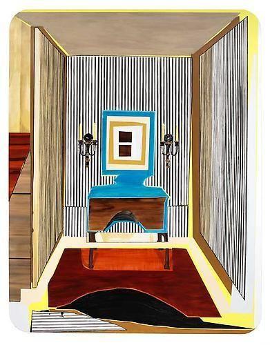 MICKALENE THOMAS Interior: Striped Foyer, 2011