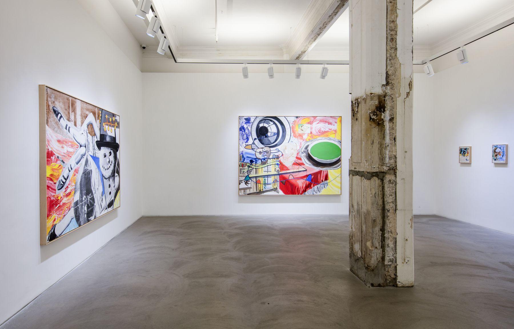 David Salle, Installation view, Lehmann Maupin, Hong Kong, 2016