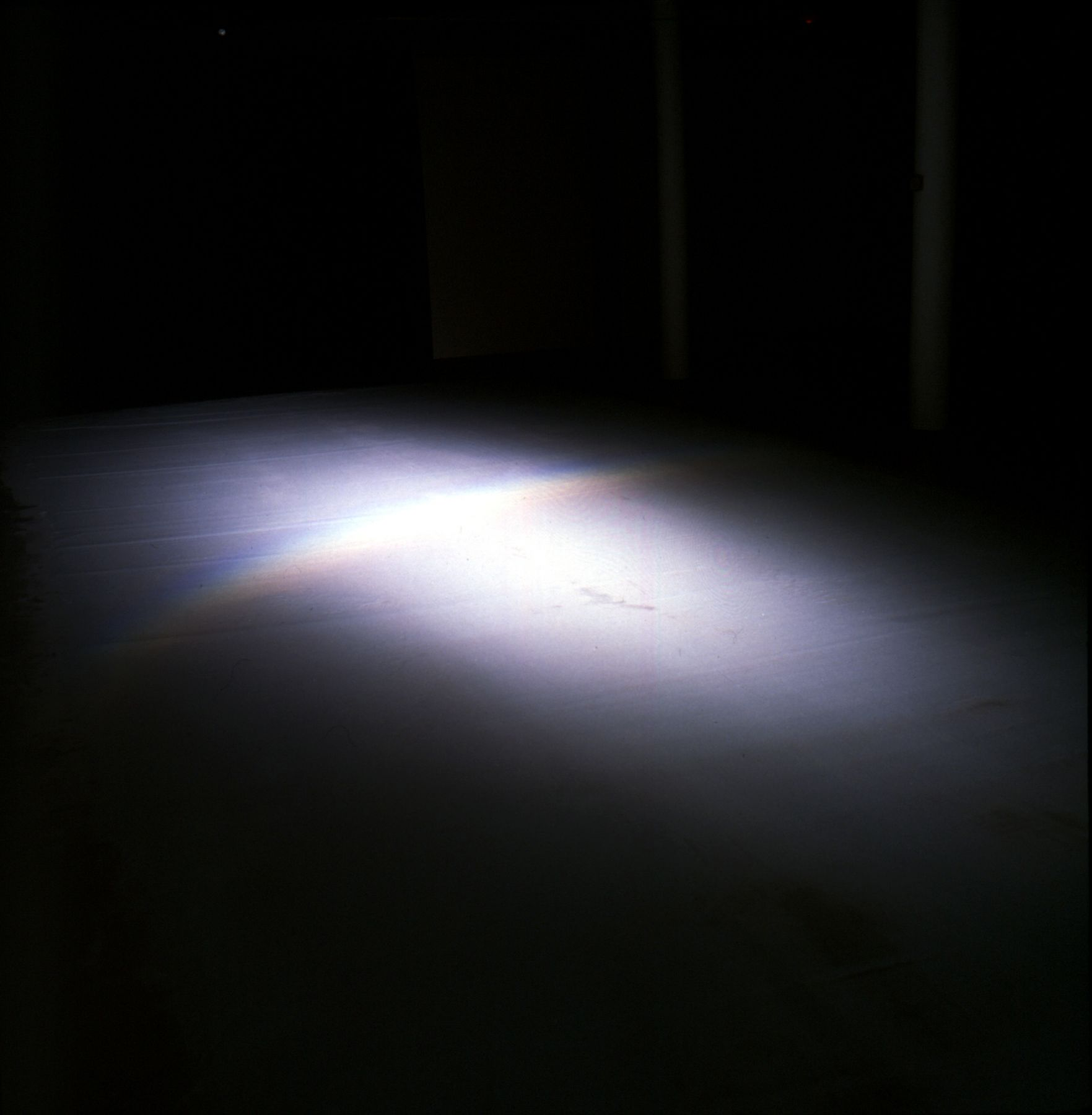 Chasing Rainbows, 1998, Glass beads and light