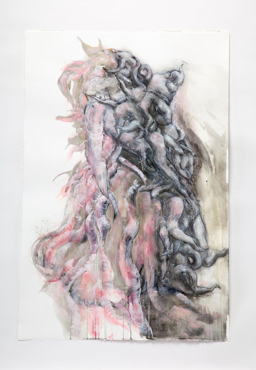 LEE BUL Untitled drawing for Monster: Pink, 2011