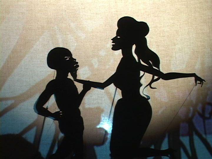 KARA WALKER Fall Frum Grace, Miss Pipi's Blue Tale (film still),2011