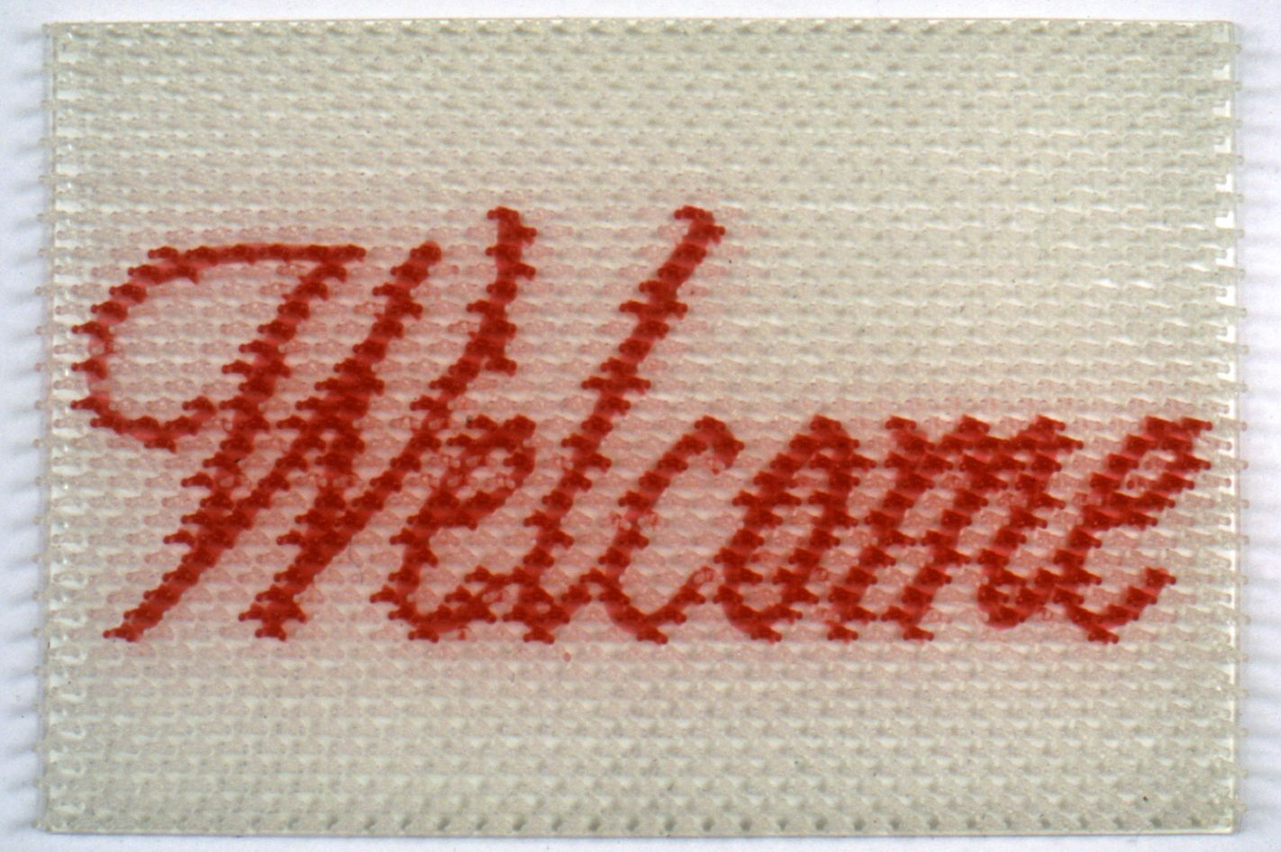 DO HO SUH, Doormat:Welcome (White), 2000