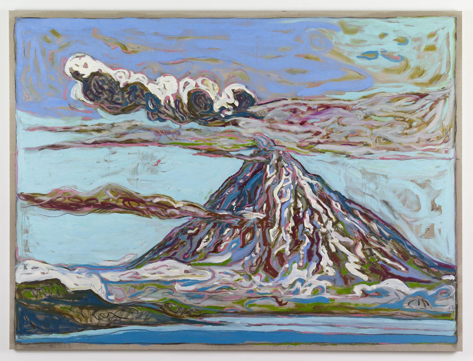 BILLY CHILDISH Erupting Volcano (Sea View), 2011