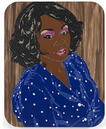 MICKALENE THOMAS Din Portrait - Untitled, 2010