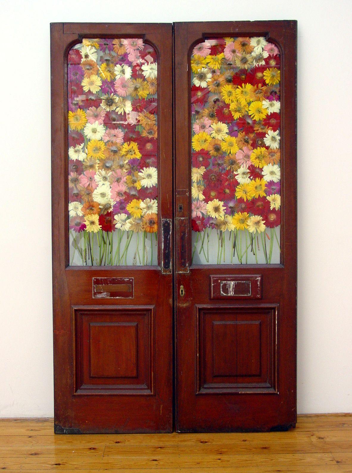 like we've never met, 2003, Found mahoghany glazed doors