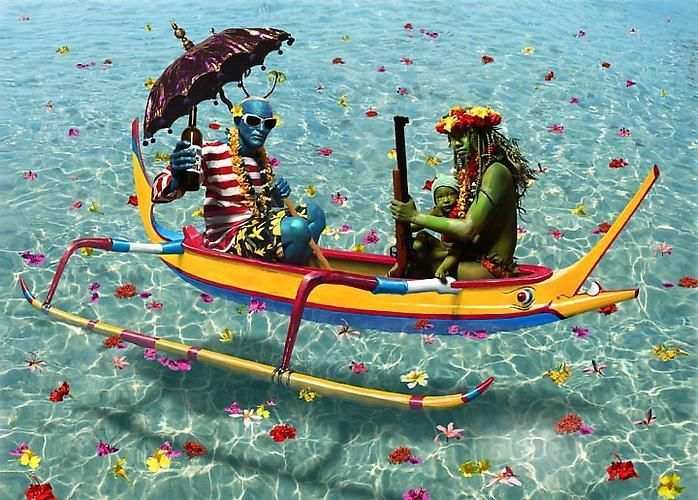 ASHLEY BICKERTON Yellow Canoe, 2010