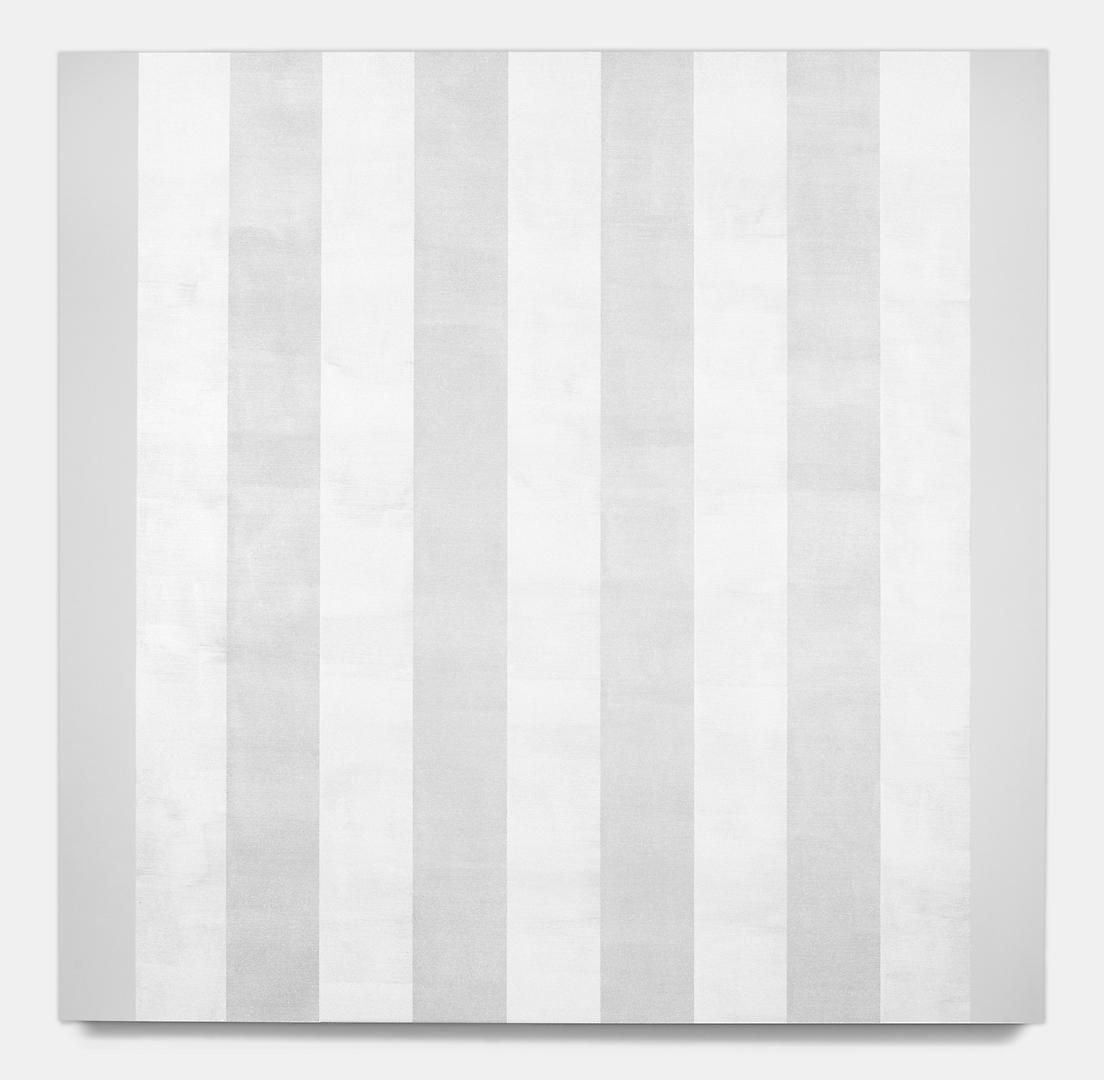 MARY CORSE Untitled (White Multiple Bands with Flat Sides, Beveled), 2012