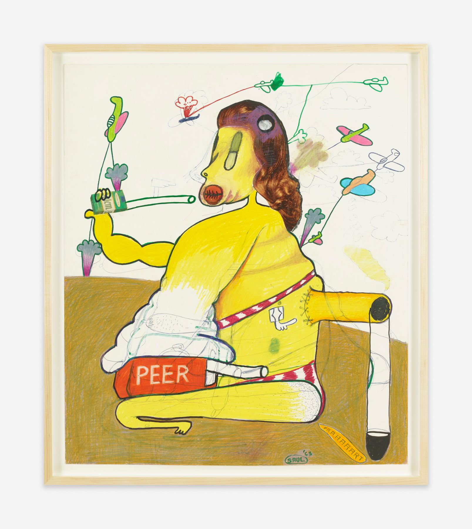Peter Saul Peer With Salem Cigarette, 1963