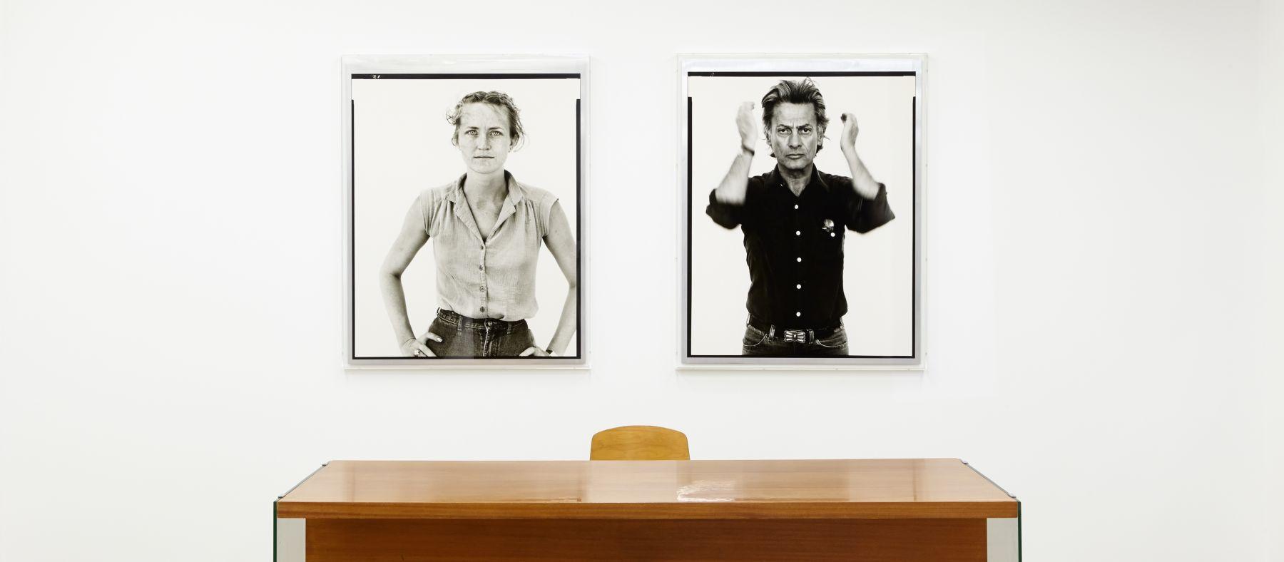 #RAWHIDE Richard Avedon Peggy Daniels, cashier, Giddings, Texas, May 7, 1981 Self-portrait, Photographer, Provo, Utah, August 20, 1980