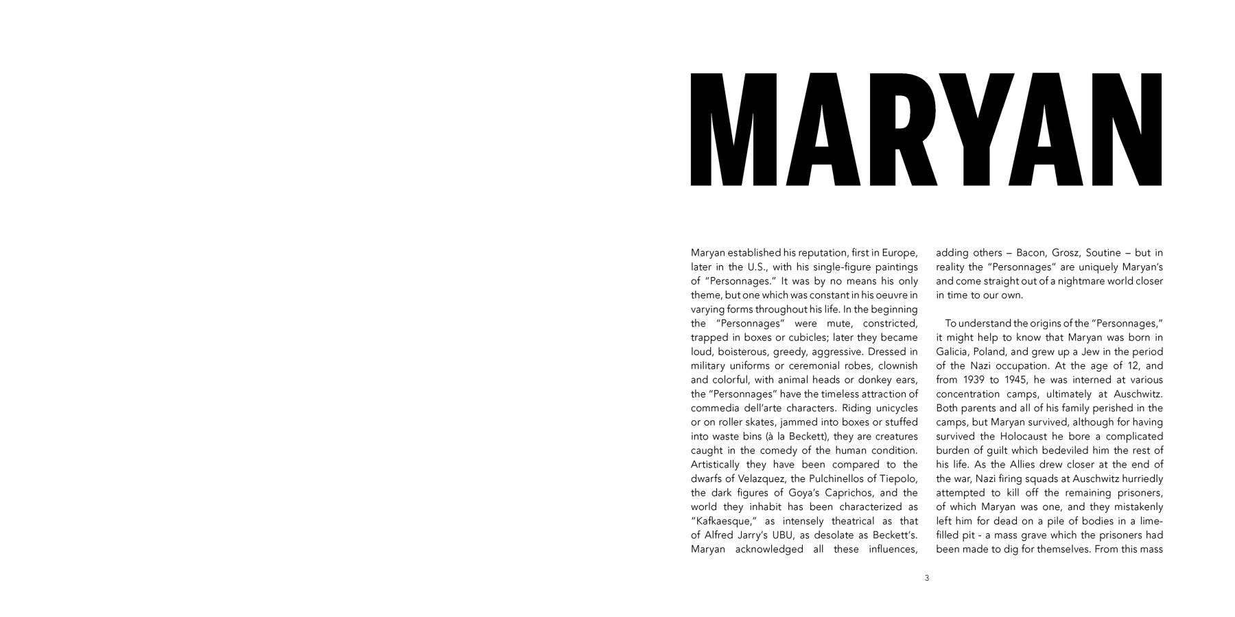 Interior view of Maryan, published by Venus Over Manhattan, New York, 2018