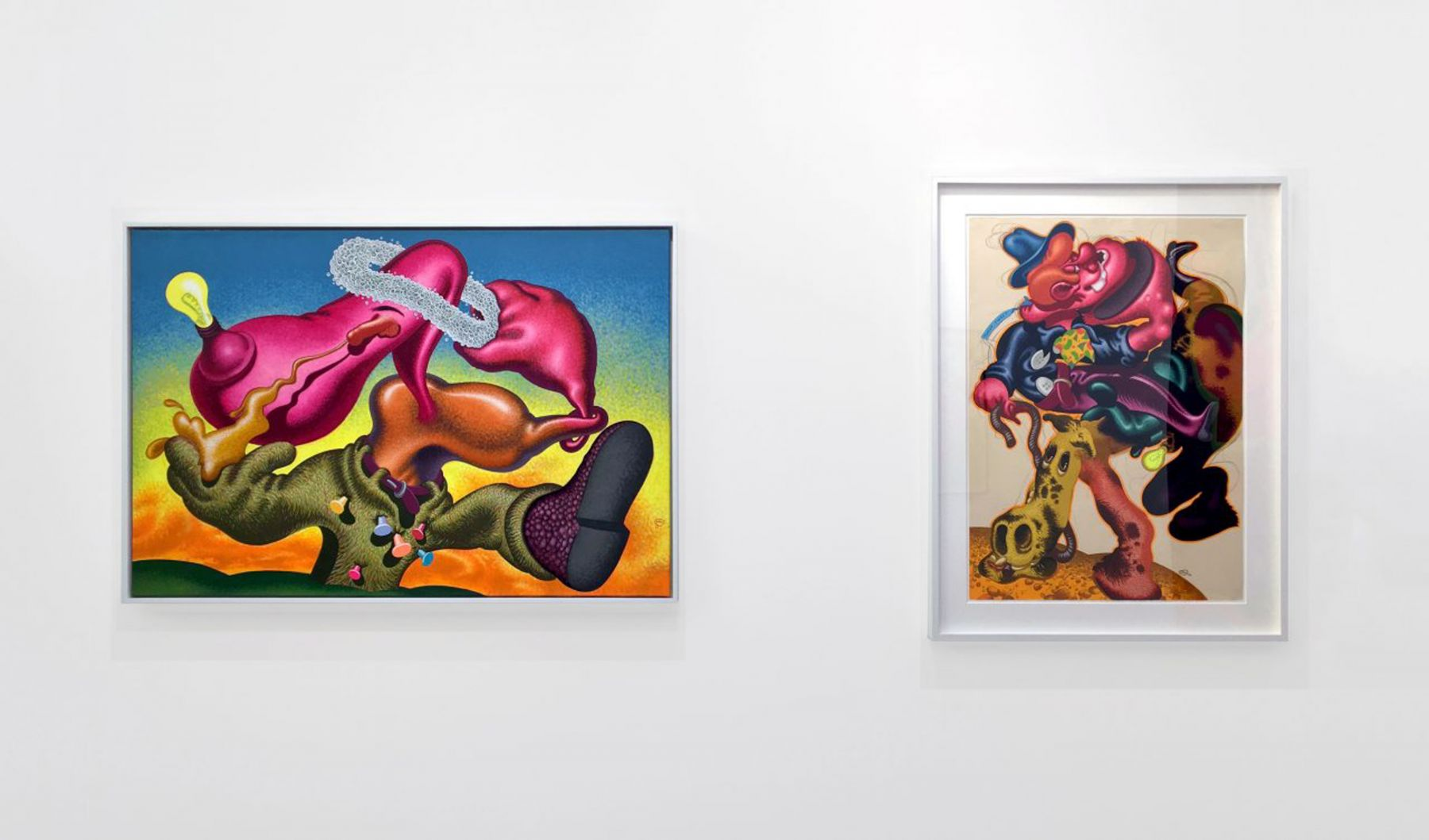 Installation view of Peter Saul: Important Early Works, at FIAC, Paris, 2017