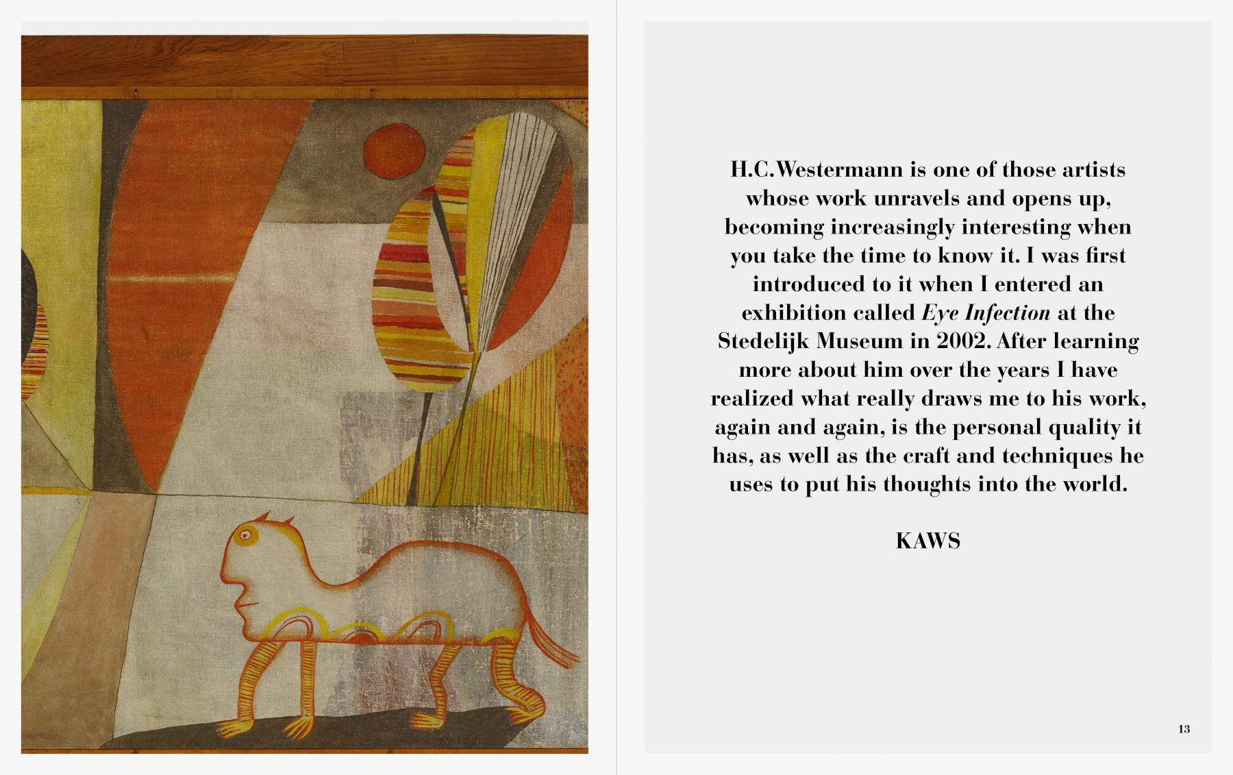 Interior view of of H.C. Westermann, published by Venus Over Manhattan, New York, 2016