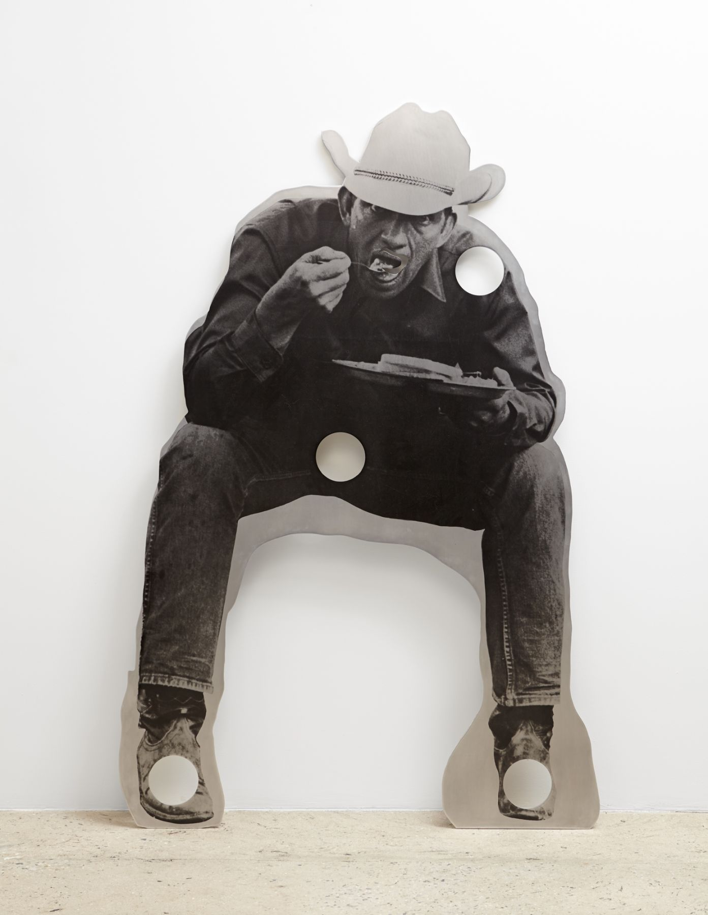 Cady Noland Cowboy with Holes, Eating