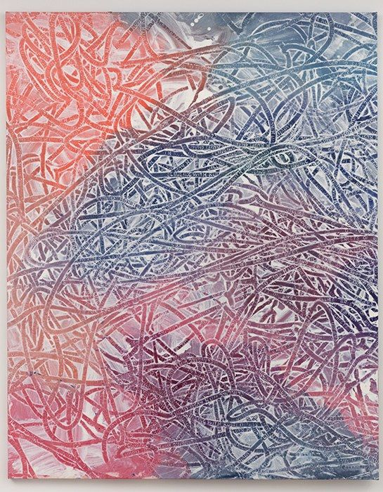Not yet titled (tracks), Ida Ekblad, 2014.