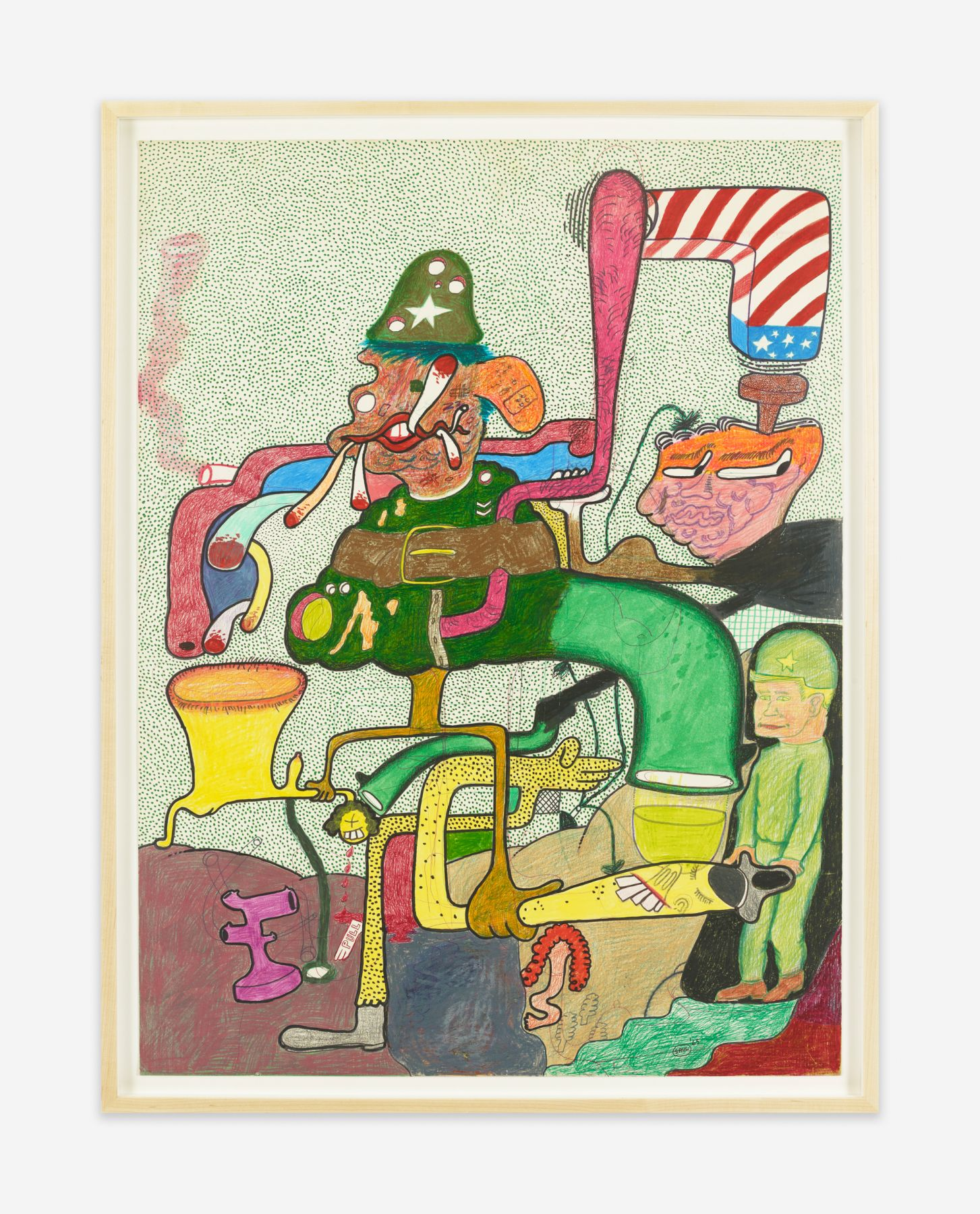 Peter Saul GI With Machinery, 1965