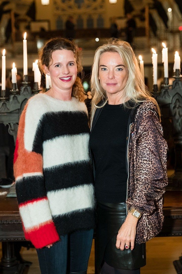 Lindsay Bolton serves an artfully cozy look with design dabbler Anne-Sophie Deneve.