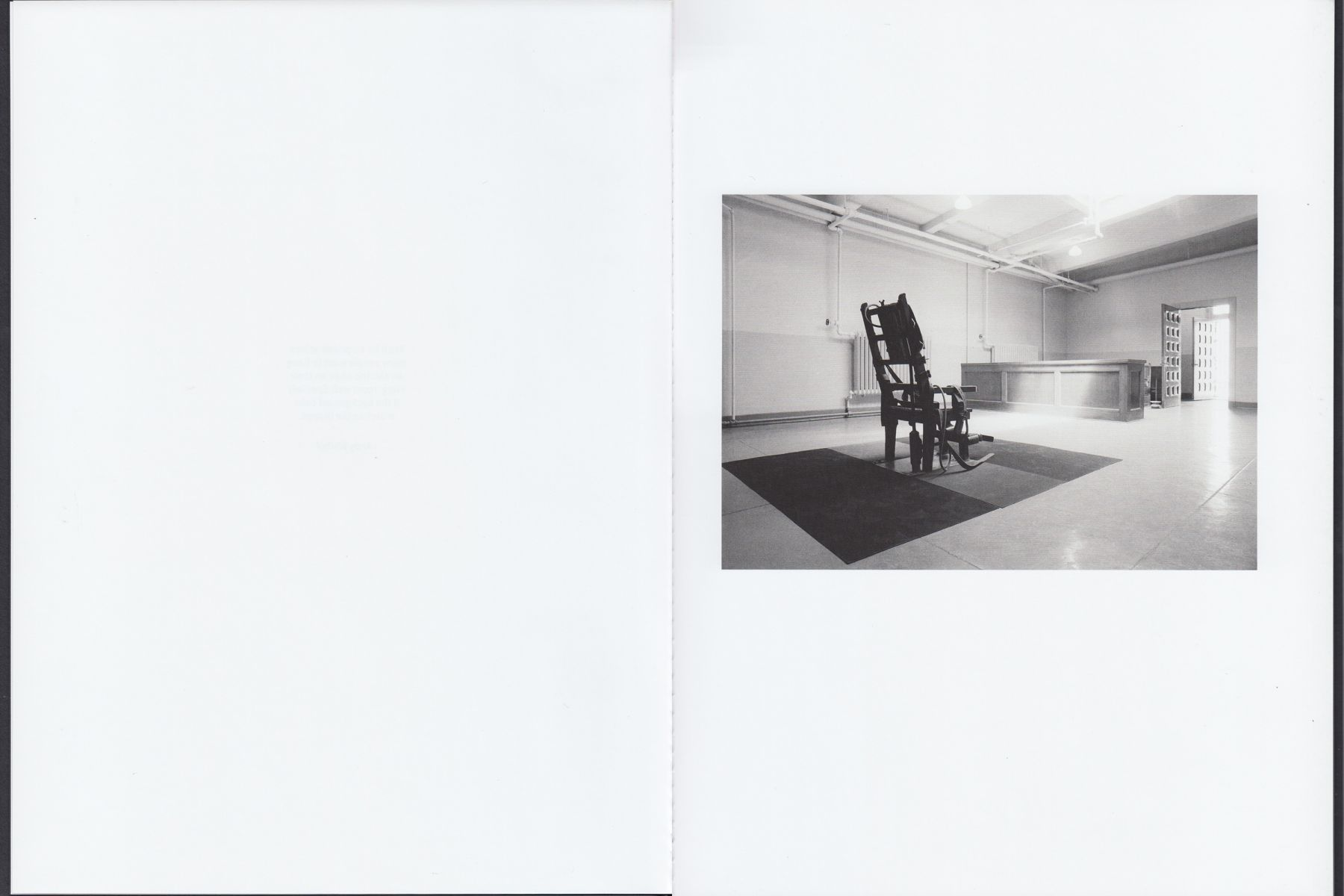 Interior view of Andy Warhol: Little Electric Chairs, published by Venus Over Manhattan, New York, 2016