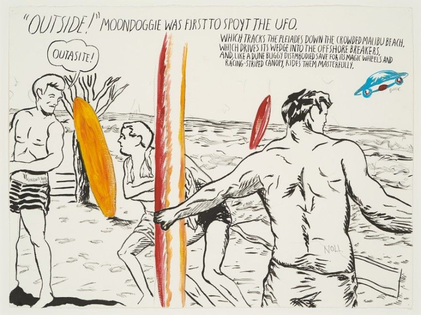 Pettibon – Outside! moondogie was, 2013