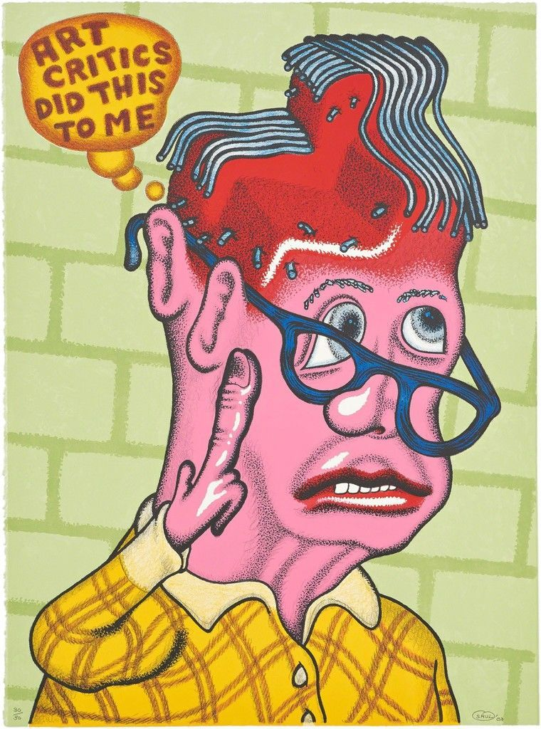 Peter Saul, Self Portrait with Haircut, 2003. Pace Prints.