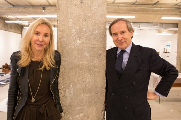 Art-world power couple Michaela and Simon de Pury,