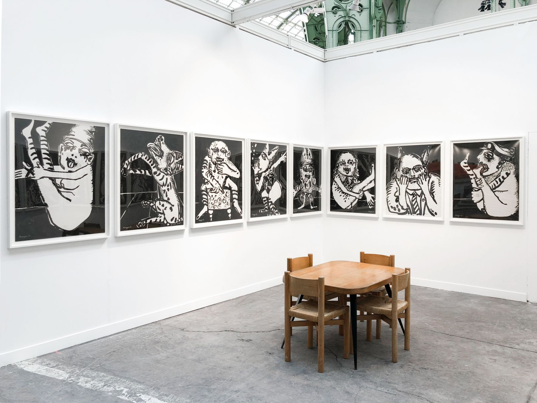 Installation view of Maryan at FIAC, Paris, 2018