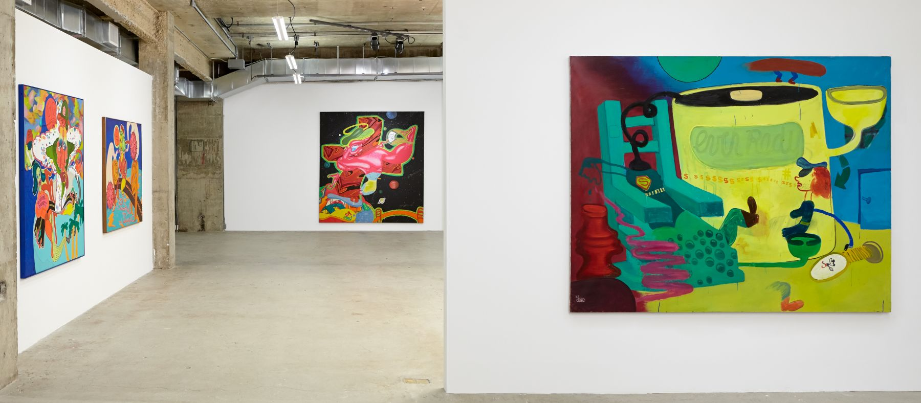 Peter Saul Human Dignity Personal Disease G.I. Christ Superman in the Electric Chair