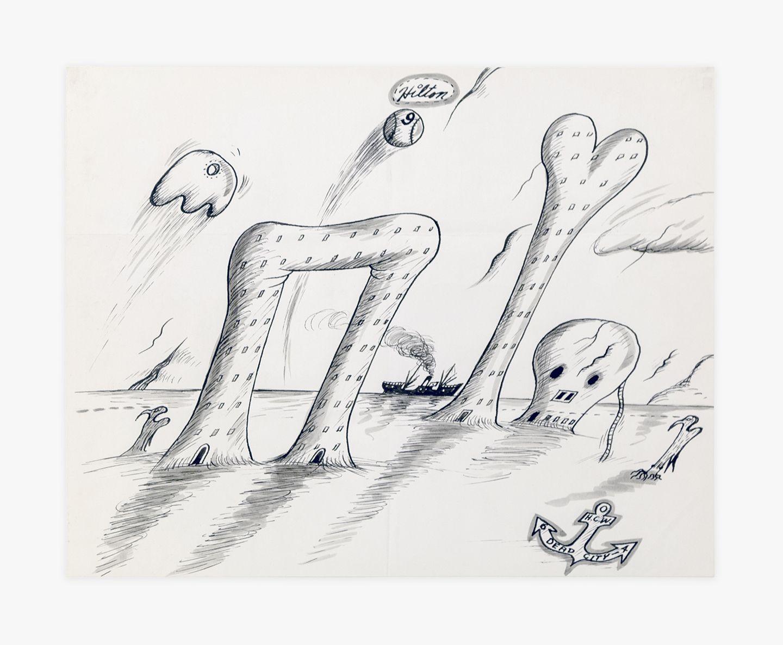 """H.C. Westermann Hilton - """"Dead City,"""" 1964"""