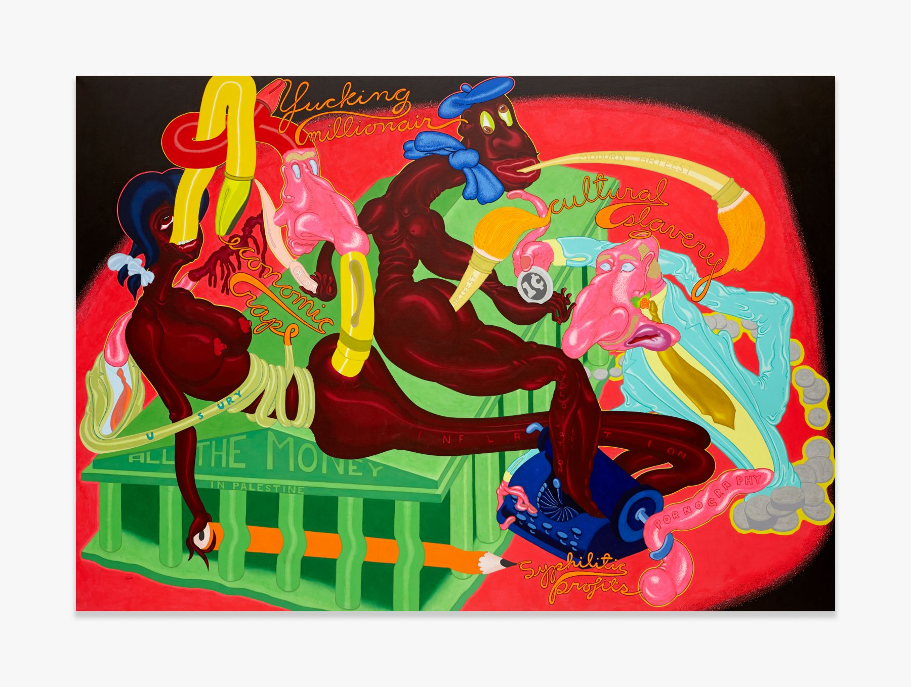 Peter Saul All the Money in Palestine