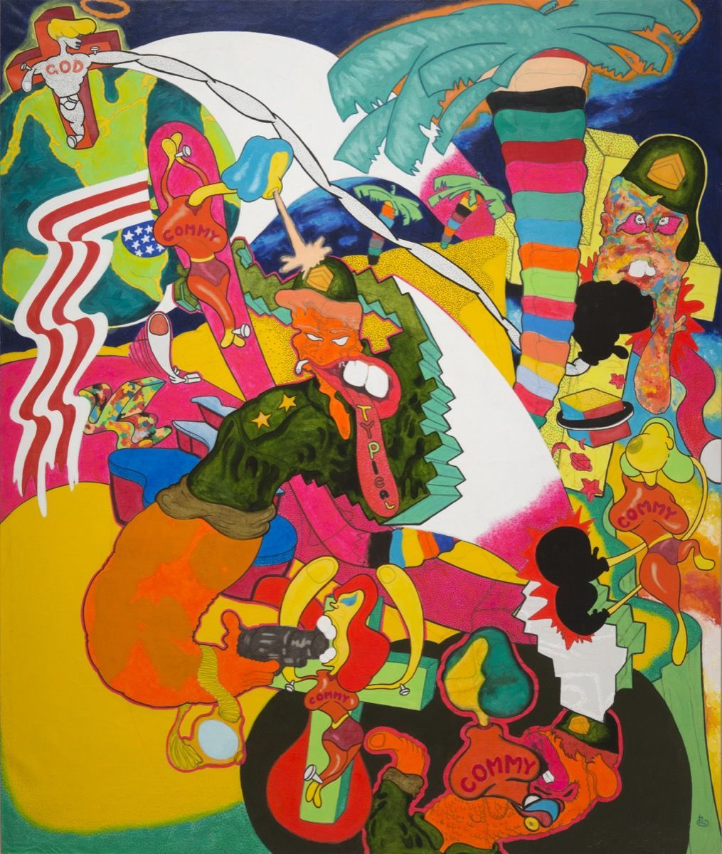 """Peter Saul, """"Vietnam,"""" 1966.Copyright Peter Saul. Courtesy of Mary Boone Gallery, New York."""