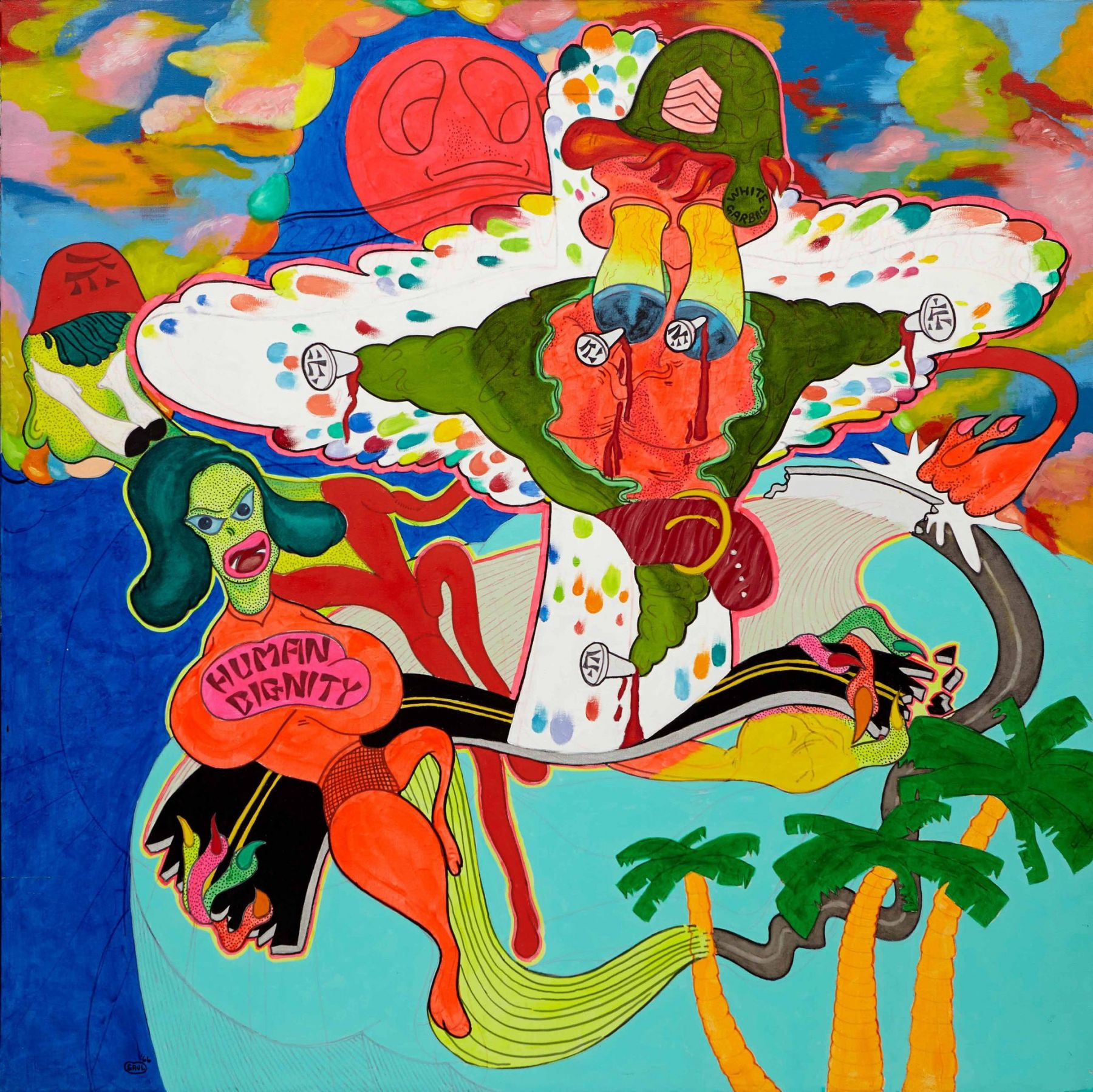 """Peter Saul: From Pop to Punk""""Human Dignity"""" (1966) in this show at the Venus Over Manhattan gallery. Credit Courtesy of the Artist and Venus Over Manhattan"""