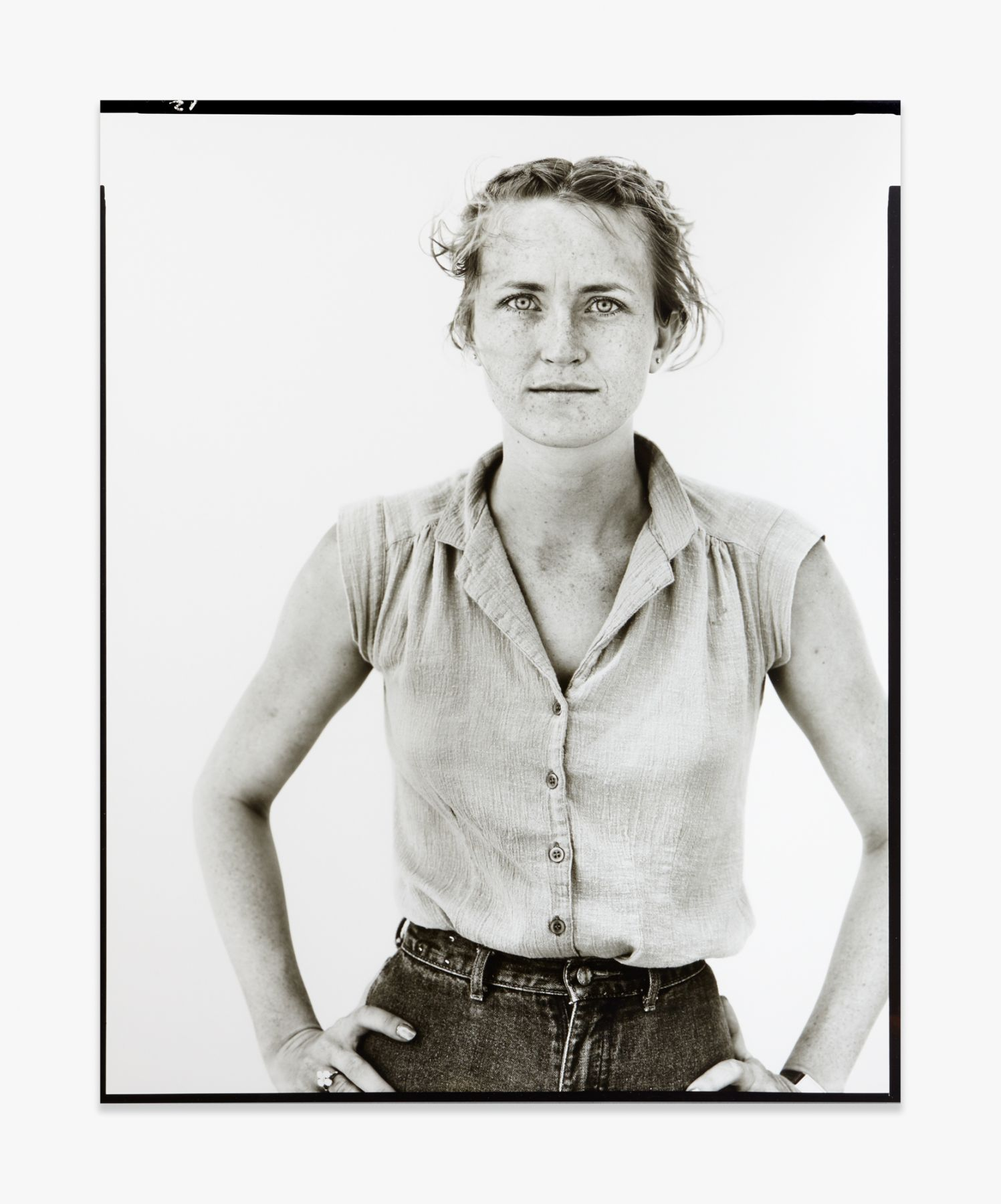 Richard Avedon Peggy Daniels, cashier, Giddings, Texas, May 7, 1981