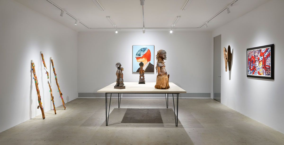 Installation view of 'Fétiche,' 2016, at Venus, New York., ANDY ROMER PHOTOGRAPHY/COURTESY VENUS