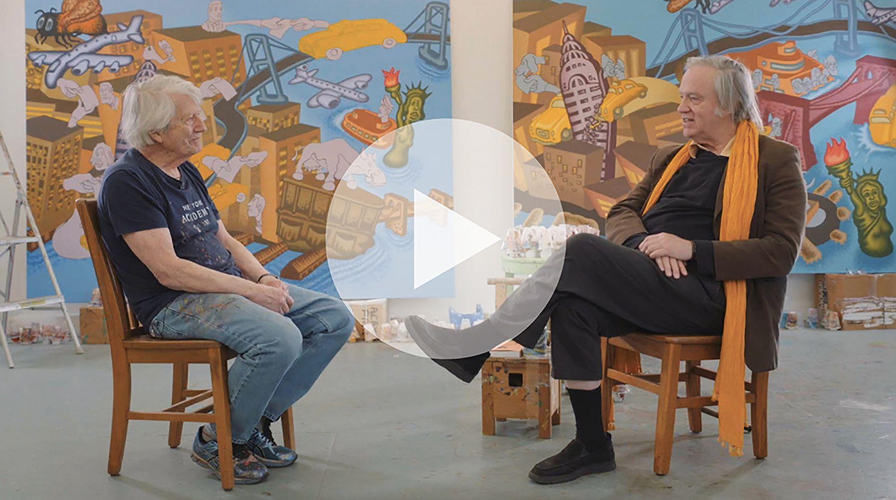 Peter Saul Talks With Robert Storr