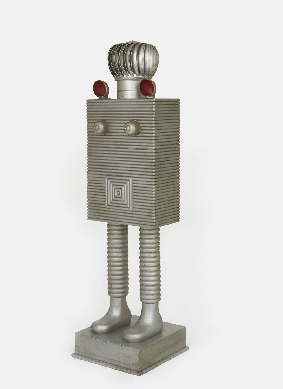 H.C. Westermann, The Silver Queen, 1960. Pine, plywood, pine moulding, galvanized metal weather vent, iron fittings, enamel, aluminum alkyd enamel, 79 3/4 x 20 7/8 x 21 1/8 inches. Courtesy of Venus Over Manhattan.