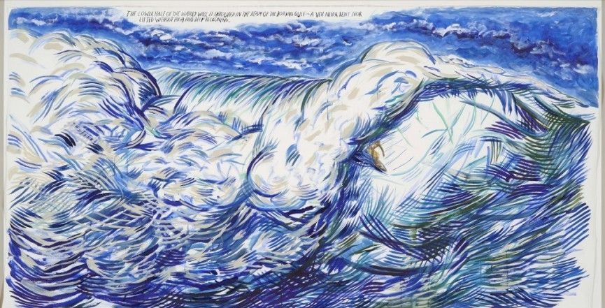 Pettibon – The lower half, 2011