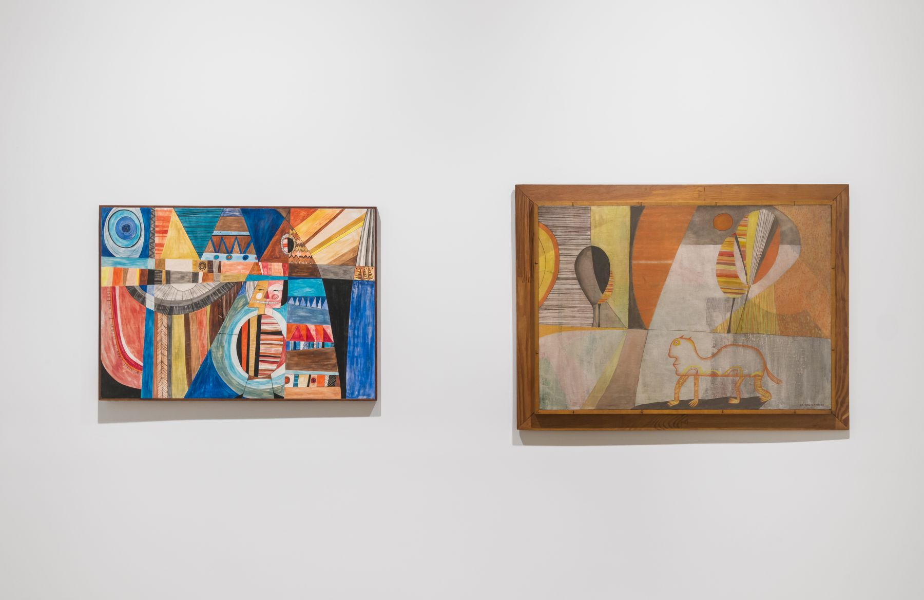 Installation image of H.C. Westermann: See America First: Works from 1953-1980, New York, Venus Over Manhattan, 2015
