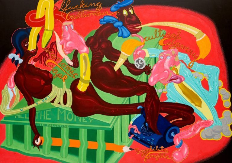 Peter Saul, All the Money in Palestine, 1969., COURTESY THE ARTIST AND VENUS OVER MANHATTAN